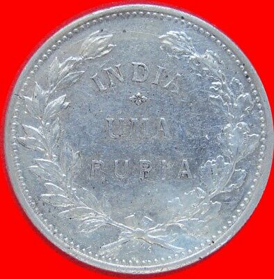 1912 India  (Portugese) 1 Rupia Silver Coin Large Size 088