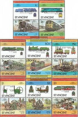 St. Vincent 728-743 Couples mint never hinged mnh 1984 LocoThematics