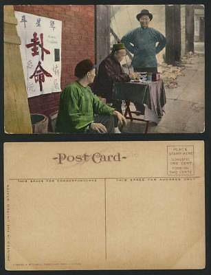 China Old Postcard Chinese Fortune Teller, Street Scene