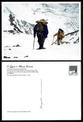 Tibet Mt. Everest Expedition 1953 Postcard E Hillary T Norgay Nr. Southest Ridge