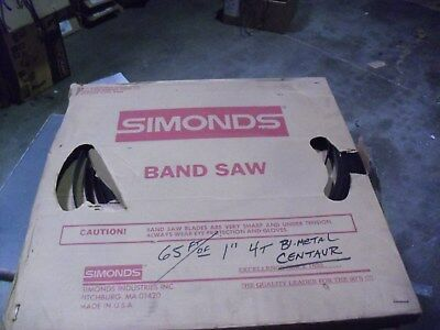 "Simonds 65 Foot Band Saw Blade Coil Of 1"" x .035 x 4TPI  Bi-Metal"