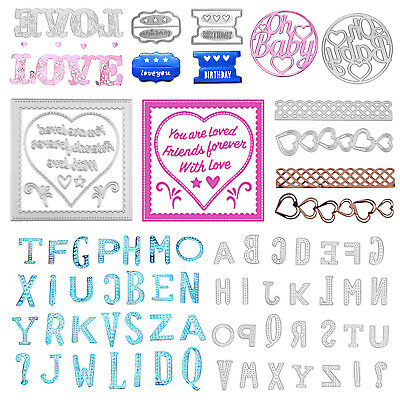 Various Shape Metal Cutting Dies Stencils DIY Scrapbook Paper Card Father Gifts