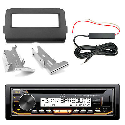 JVC KDR99MBS CD Bluetooth Radio, Dash Kit, Hide Away Antenna (2014-Up Harley)