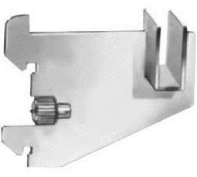 "Store Display Fixtures 4 NEW 3""L X-HVY DUTY FLAT HANGROD BRACKET FOR RECT TUBING"