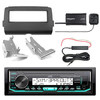 JVC KDX35MBS Bluetooth Radio + Kit, SiriusXM Tuner, Antenna Kit (2014-Up Harley)