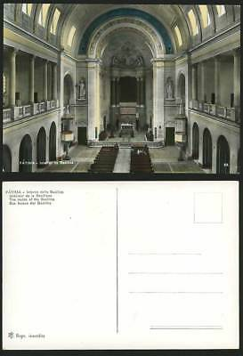 Portugal Old Postcard FATIMA - Basilica Church Interior