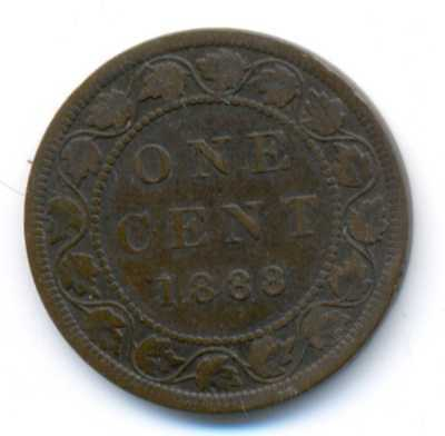 Good 1886 Canada Queen Victoria Bronze One Cent High Grade Coin Other Canadian Coins
