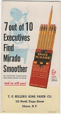 Eagle Mirado Chemi Sealed Pencil Vintage Blotter Accountant Ithaca NY TG Miller