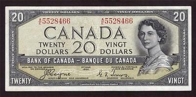 1954 Bank of Canada $20 devils face BC-33a Very Fine+ VF25+