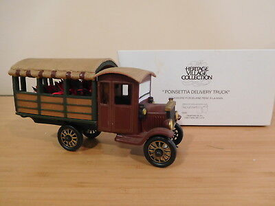 Dept 56 Heritage Village - Poinsettia Delivery Truck