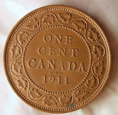 1911 CANADA CENT - AU Quality Vintage Coin - FREE SHIPPING - HV39