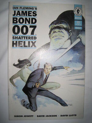 JAMES BOND : SHATTERED HELIX : # 1 of 2 issue dark horse series by DAVID LLOYD