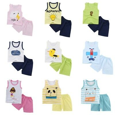 Cute Baby Boys Clothes Summer Top Tee + Short Pants Kids Boys Outfits Set