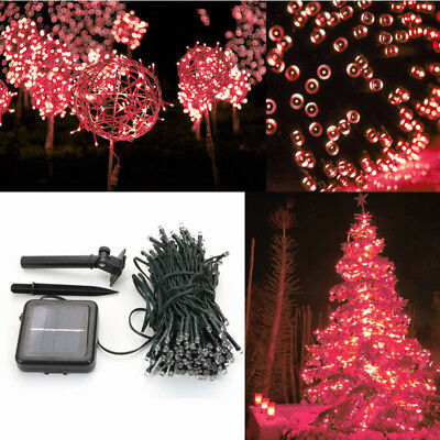 100 LED Decor Lamp Solar String Light Stage light for Party Wedding Outdoor Red