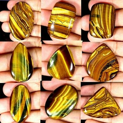 100% Natural Designer Golden Tiger Eye Oval,Pear,Cushion shape Loose Gemstone