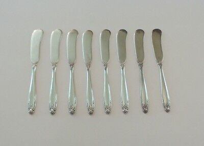 Set/8 International PRELUDE Solid Sterling Silver Butter Spreaders