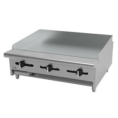 "Asber AEMG-36 36"" Countertop Manual Gas Griddle"