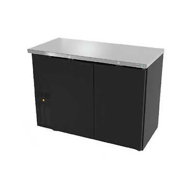 "Asber ABBC-24-60 62-3/4"" Dual Section Slim Line Back Bar Cooler w/Solid Doors"