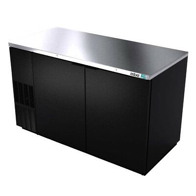 "Asber ABBC-58 59-1/2"" Dual Section Back Bar Cooler w/ Solid Doors"