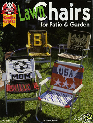Macrame Lawn Chairs PATTERN booklet, weaving seats OOP - last one!