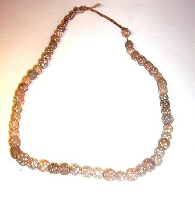 Egyptian Roman decorated rock crystal beaded necklace c. 3rd century B.C.