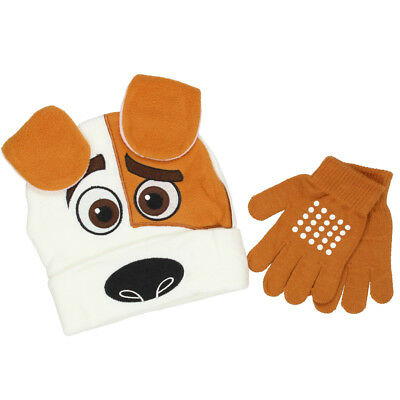 The Secret Life of Pets Boys Girls Beanie Hat and Gloves Set F16SE27950