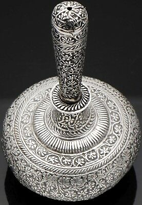 Antique Persian Silver Rosewater Sprinkler Bottle