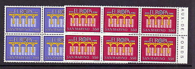 San Marino 1984 Europa ( 2 ) In Marginal Blocks Of 6 Mnh Cat £57