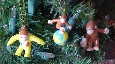 Curious George Figural  Christmas Ornaments