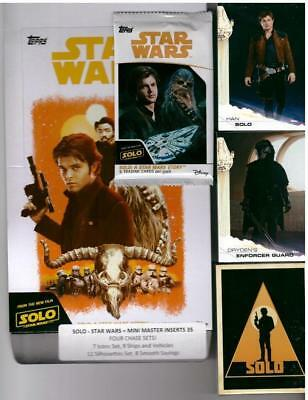 2018 Solo - A Star Wars Story Mini Master 135 Cards 4 Insert Sets, Surprise Item