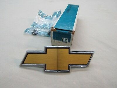 * NOS 1975 Chevy El Camino SS Front Grille Bow Tie Name Badge Emblem GM 358272