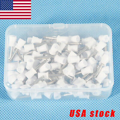100*USA Dental Teeth Prophy Polish Polishing Cups Latch Type Nature Rubber White