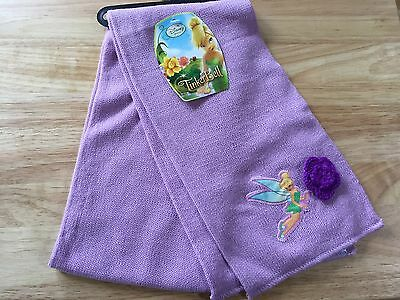 """NWT TINKERBELL LAVENDER KNIT Outerwear Scarf OSFM (46"""" Long)"""