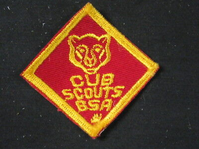 1960/'s Cub Scout Bear Patch twill  c32