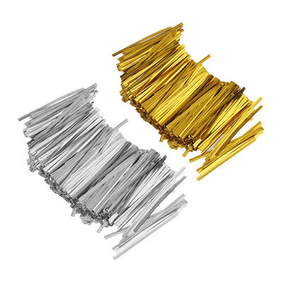 1600PCS Metallic Bow Ties Wire Bowknot Twist Tie Candy Cookie Bag Party DIY
