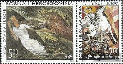 Bosnia - croatian. Post mostar 35-36 Couple mint never hinged mnh 1997 Say and L