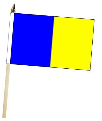 Ireland Longford County Gaelic Games Colours Large Hand Waving Courtesy Flag