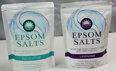 Elysium Spa Epsom Bath Salts Crystals Natural Magnesium Sulphate Relax Soothe