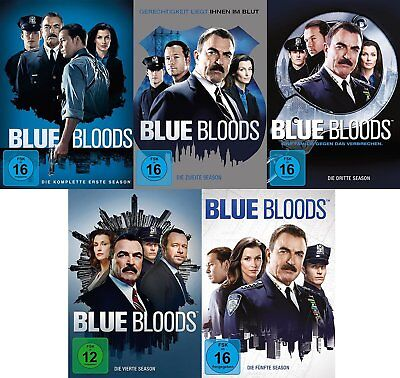 30 DVDs * BLUE BLOODS - SEASON / STAFFEL 1 + 2 + 3 + 4 + 5 IM SET # NEU OVP +
