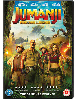 Jumanji: Welcome to the Jungle DVD (2018) Dwayne Johnson, Kasdan (DIR) cert 12