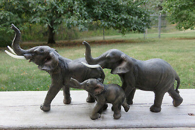 Elephant Family African Jungle Animals Resin Statue New Ornament Elephants New