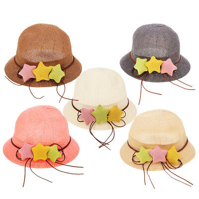 Toddler Kids Baby Girls Outdoor Bucket Hat Summer Sun Beach Beanie Bonnet Cap
