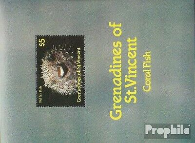 St. Vincent-grenadines block30 unmounted mint / never hinged 1987 Seafood