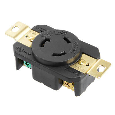 L5-20 Generator Locking Receptacle - 20A 125V, 2P 3W US Plug YUADON Authorized