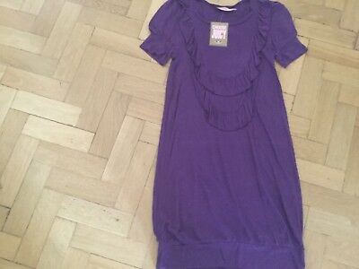 NWT Juicy Couture New & Genuine Ladies Small UK 8/10 100% Modal Purple Dress