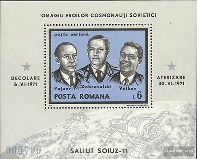 Romania block85 (complete issue) unmounted mint / never hinged 1971 Cosmonaut