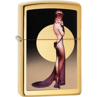 Zippo 29583 High Polish Brass Classic Olivia De Berardinis Windproof Lighter