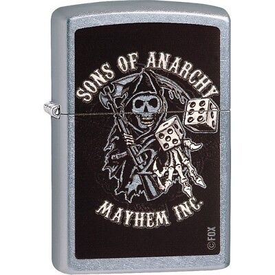 Zippo 29582 Street Chrome 2017 Classic Sons Of Anarchy Windproof Lighter