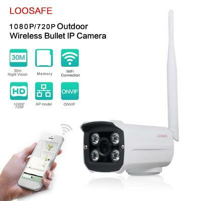 LOOSAFE 720P 1080P HD WIFI IP Camera Night vision Outdoor Home Security lot