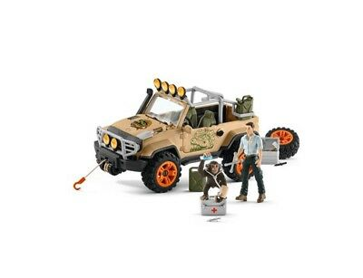 4x4 Vehicle set with winch by Schleich 42410 Stunning  strong tough <><